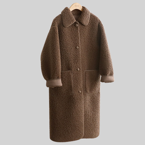 JK1707/Charming Fleece Long Coat(55~77)
